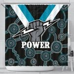 Port Adelaide Shower Curtain Power K4