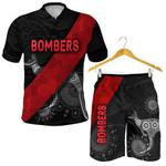 Combo Polo Shirt and Men Short Essendon Indigenous Bombers - Black