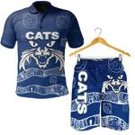 Combo Polo Shirt and Men Short Cats Aboriginal TH4