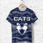 Geelong T Shirt Cats Indigenous - Navy