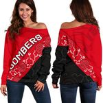 Bombers Women Off Shoulder Sweater TH4