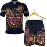 Combo Polo Shirt and Men Short Adelaide Indigenous Crows