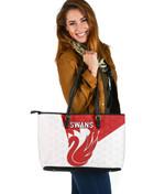 Sydney Large Leather Bag Swans K8