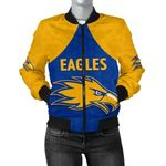 Eagles Bomber Jacket West Coast For Women - Royal Blue K8