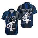 Carlton Hawaiian Shirt Blues Free Style Indigenous