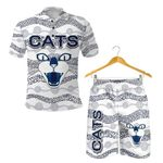 Combo Polo Shirt and Men Short Geelong Cats Indigenous - White