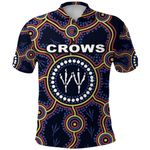 Adelaide Polo Shirt Indigenous Crows Footprint