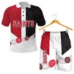 Combo Polo Shirt and Men Short Saints Indigenous