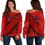 Essendon Women Off Shoulder Sweater Indigenous Bombers - Red