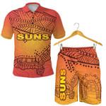 Combo Polo Shirt and Men Short Gold Coast Suns Simple Indigenous