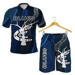 Combo Polo Shirt and Men Short Carlton Blues Free Style Indigenous