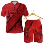 Combo Polo Shirt and Men Short Essendon Indigenous Bombers - Red