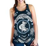 Carlton Women's Racerback Tank The Blue Baggers Indigenous