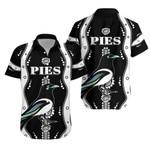 Collingwood Hawaiian Shirt Pies Indigenous - Black
