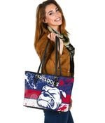 Western Bulldogs Small Leather Bag TH4