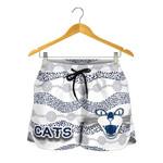 Geelong Women Shorts Cats Indigenous - White