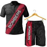 Combo Polo Shirt and Men Short Essendon Bombers Black