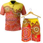 Combo Polo Shirt and Men Short Gold Coast Sun Aboriginal