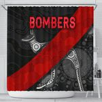 Essendon Shower Curtain Indigenous Bombers - Black K8