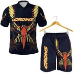 Combo Polo Shirt and Men Short Adelaide Simple Indigenous Crows
