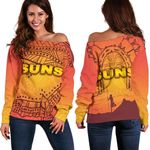 Gold Coast Women Off Shoulder Sweater Suns Simple Indigenous