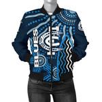 Carlton Blues Bomber Jacket For Women Aboriginal TH4