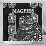 Magpies Shower Curtain Aboriginal TH4