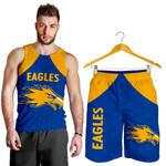 Combo Men Tank Top and Men Short Eagles West Coast - Royal Blue