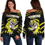 Richmond Women Off Shoulder Sweater Tigers