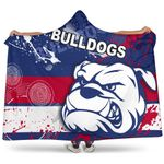 Western Bulldogs Hooded Blanket TH4