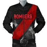 Essendon Bomber Jacket For Men Indigenous Bombers - Black K8