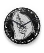 Paua Shell Maori Silver Fern Wall Clock K5