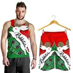 Combo Men Tank Top and Men Short Rabbitohs Forever Indigenous K4