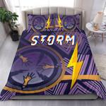 Storm Bedding Set Simple Indigenous - Purple