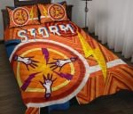 Storm Quilt Bed Set Simple Indigenous - Orange