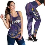 Combo Racerback Tank and Legging Storm Simple Indigenous - Purple
