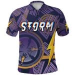 Storm Polo Shirt Simple Indigenous - Purple