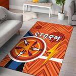 Storm Area Rug Simple Indigenous - Orange