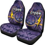 Storm Car Seat Covers Simple Indigenous - Purple