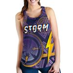 Storm Women Racerback Tank Simple Indigenous - Purple