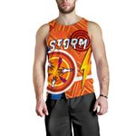 Storm Men Tank Top Simple Indigenous - Orange