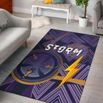 Storm Area Rug Simple Indigenous - Purple