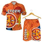 Combo Polo Shirt and Men Short Storm Simple Indigenous - Orange