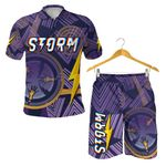Combo Polo Shirt and Men Short Storm Simple Indigenous - Purple