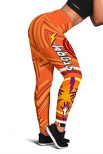 Storm Women Leggings Simple Indigenous - Orange