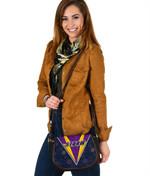 Storm Leather Saddle Bag Indigenous Artsy Style K8