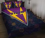 Storm Quilt Bed Set Indigenous Artsy Style K8