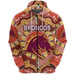 Brisbane Zip Hoodie Broncos Indigenous Warm Vibes
