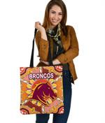 Brisbane Tote Bag Broncos Indigenous Warm Vibes K8
