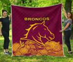 Brisbane Premium Quilt Broncos Indigenous K8